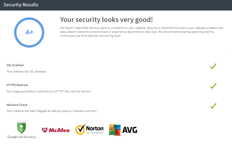 Website Security Check